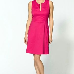 Theory Etiara Impeccable Pink Cotton Dress Size 10